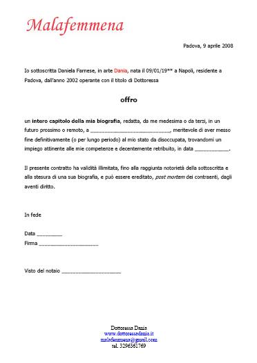 contratto biografia Dania